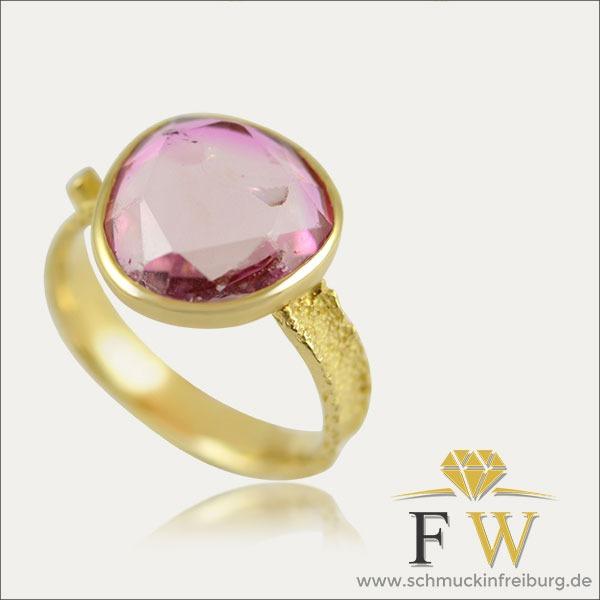 turmalin tourmaline ring rosa rose gold schmuck handmade handarbeit goldschmied freiburg