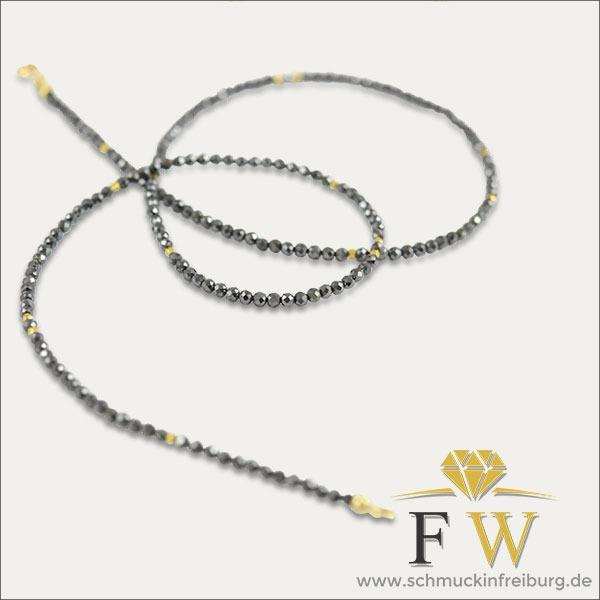pyrit pyrite kollier collier gold black silber silver schwarz schmuck handmade handarbeit goldschmied freiburg