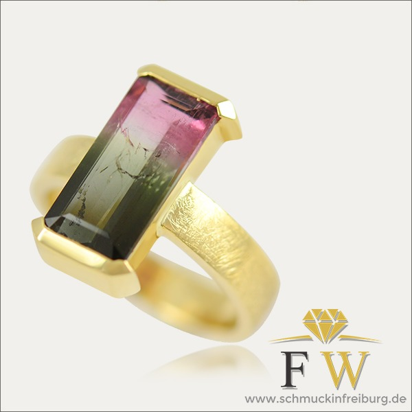 turmalin tourmaline ring gold bunt colorful schmuck handmade handarbeit goldschmied freiburg