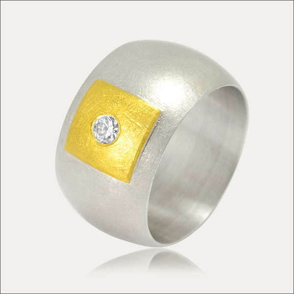 brillant ring gold feingold finegold silber silver handmade handarbeit schmuck goldschmiede freiburg