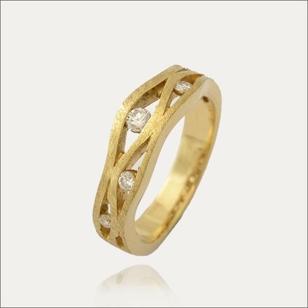 brillantring brillant gold handmade handarbeit goldschmiede freiburg schmuck exclusive exklusiv
