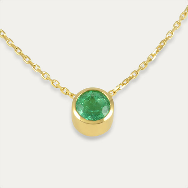 smaragd anhänger pendant grün green gold schmuck handmade handarbeit goldschmied freiburg