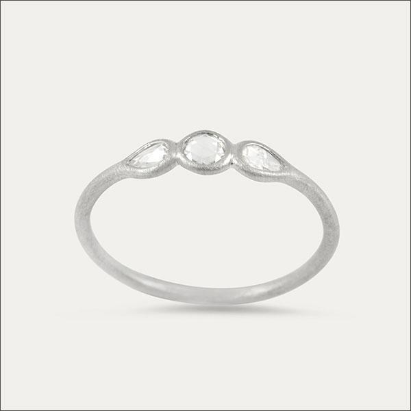 diamantscheiben ring diamant diamond goldschmiede freiburg weiß´gold whitegold handmade handarbeit