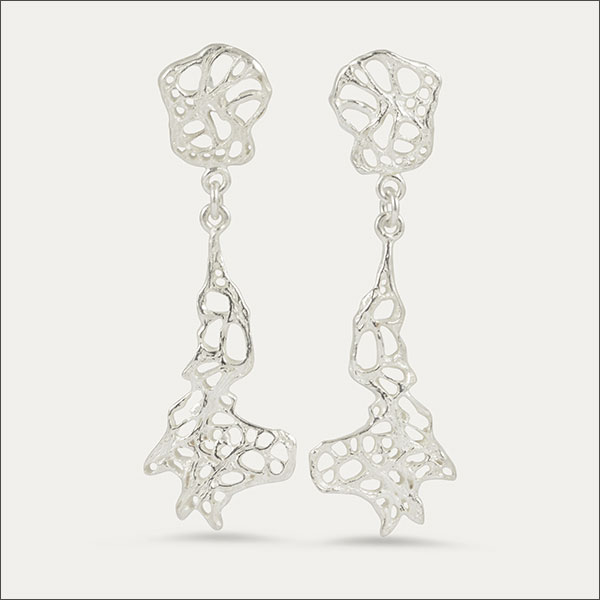 kaktusgewebe ohrringe ohrhänger earrings silber silver schmuck goldschmiede freiburg handmade handarbeit