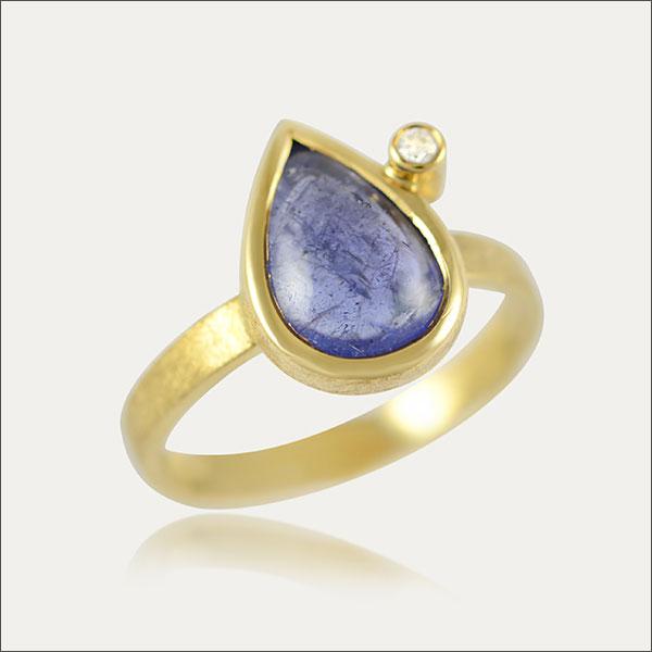 Tanzanit ring Tansanit ring Gold gold Brillant Diamant  diamond
