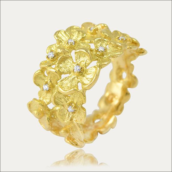 Goldring gold ring brillant brilliant brillante anillo sortija oro bague