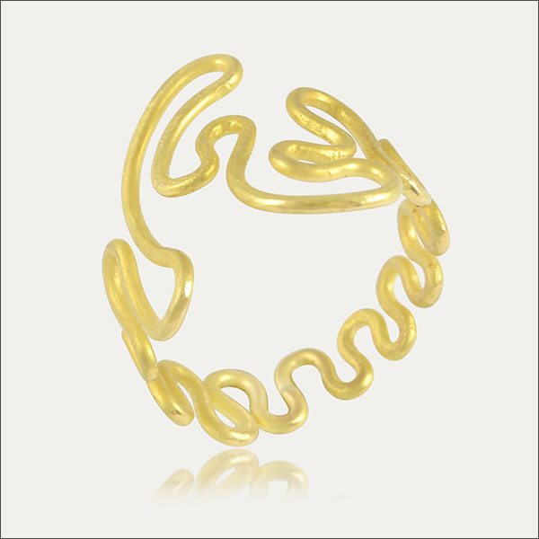 Goldring ring gold sortija de oro sortija bague or kunst arte art