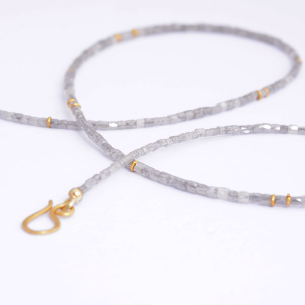 Diamantkette Diamond Necklace Graudiamantkette Gold Handmade natural grey diamond necklace