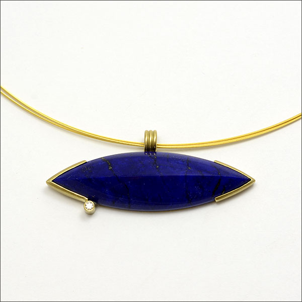 Lapis Lazuli Anhänger Pendant Gold