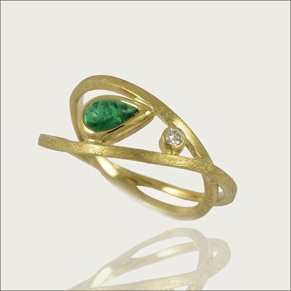 smaragd ring emerald gold esmeralda colombia kolumbien