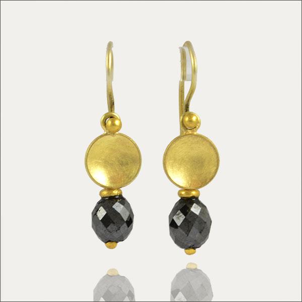 diamant diamond blackdiamond schwarzerdiamant ohrringe gold ohrhänger