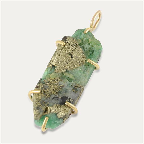 Natur Smaragd Pyrit Einschlüsse Kolumbien rough emerald colombian gold Gold