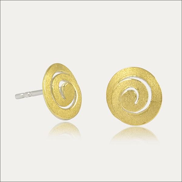 ohrstecker ohrschmuck earrings gold silber silver schmuck handmade handarbeit goldschmied freiburg