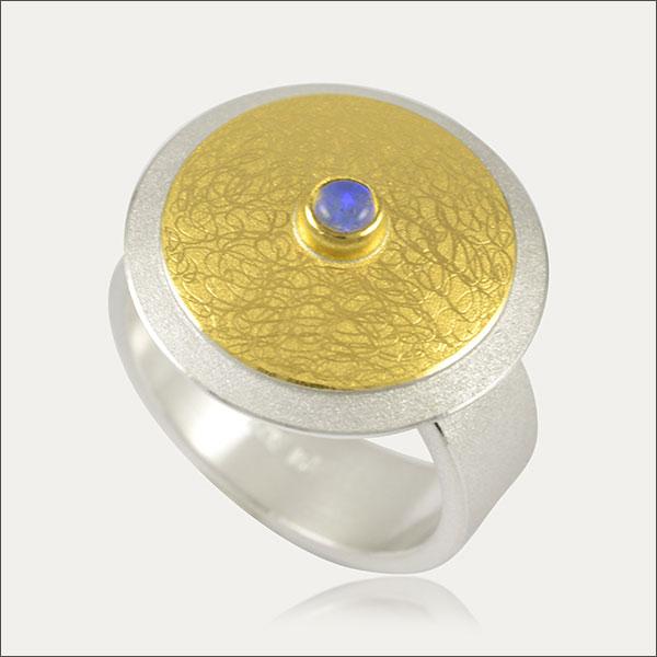opal ring blau blue silber silver gold schmuck handmade handarbeit goldschmied freiburg