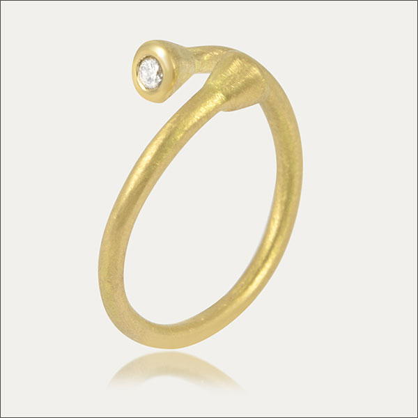 Ring Gold Calimakultur sortija oro ring gold calima colombia Kolumbien Brillant Diamant diamond brilliant brillante diamante