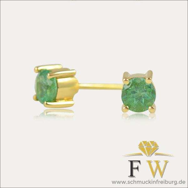 smaragd kolumbien emerald colombia gold oro or emeraude ohrstecker studs pendientes smaragdauskolumbien green verde grün