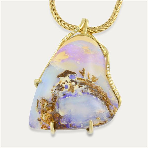 Matrix Opal opal pendant Opalanhänger gold Australien australia