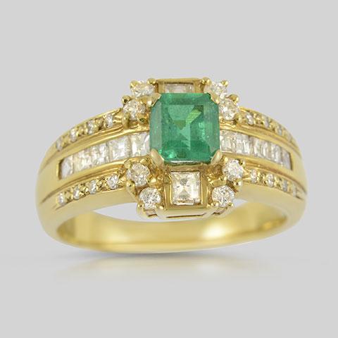 Colombia Kolumbien Gold Exclusive Smaragd Emerald Diamant Diamond