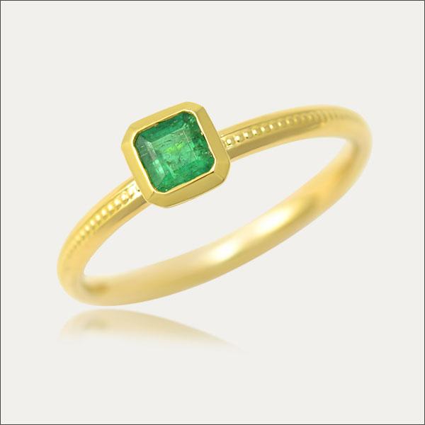 Smaragd Ring Smaragdring Gold Goldring Smaragd Kolumbien Handmade Handarbeit
