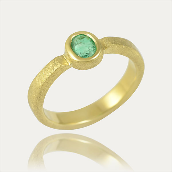 Smaragdring Gold ring with a colombian emerald Smaragd aus Kolumbien Smaragd Kolumbien Ring gold 750er Gold