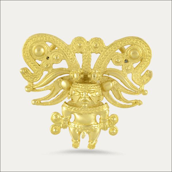 Tayrona Anhänger präkolumbianisch gold reproduktion goldmuseum freiburg bogotá