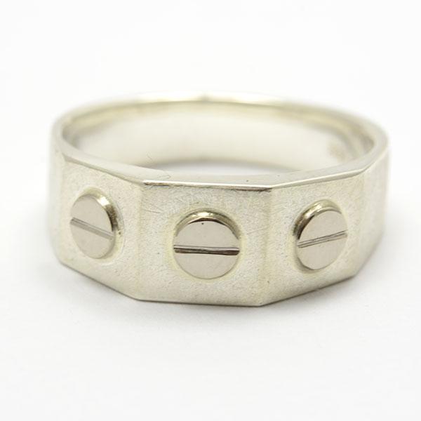 Schrauben Ring Silber silver Gold gold