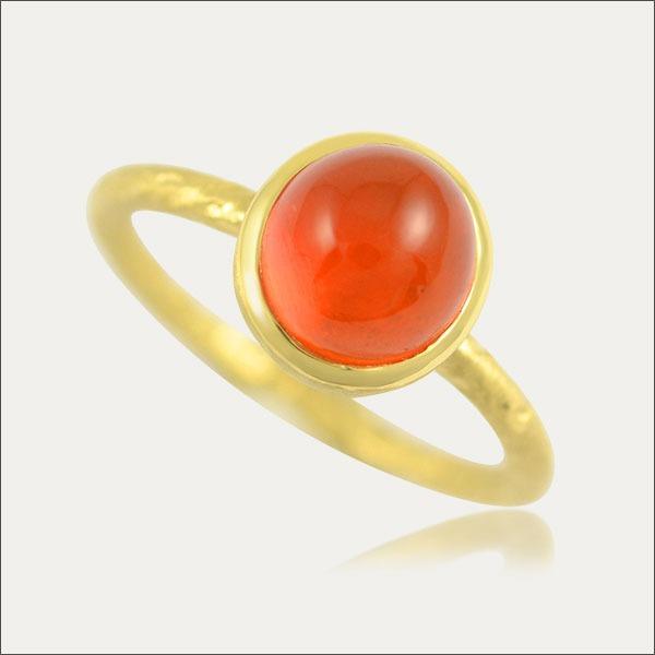 feueropal ring feuer fire opal gold orange schmuck handmade handarbeit goldschmied freiburg exklusiv