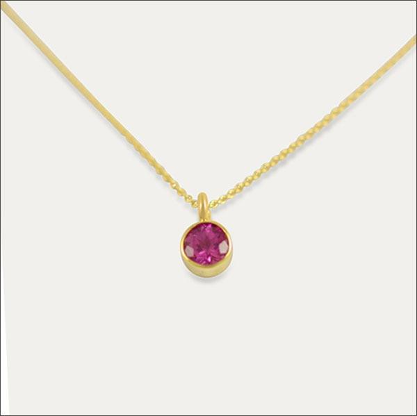turmalin tourmaline anhänger pendant pink rosa rose gold schmuck handmade handarbeit goldschmied freiburg