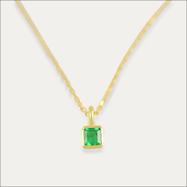 smaragd anhänger emerald pendant grün green gold schmuck handmade handarbeit goldschmied freiburg