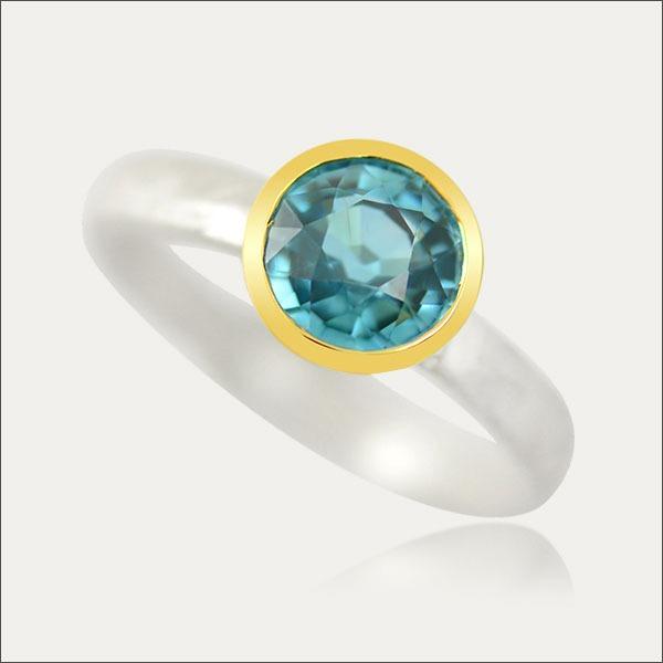 zircon ring blau blue gold silber silver schmuck handmade handarbeit goldschmied freiburg