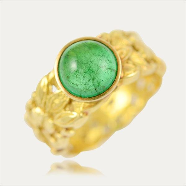 smaragd emerald ring grün green gold special schmuck handmade handarbeit goldschmied freiburg