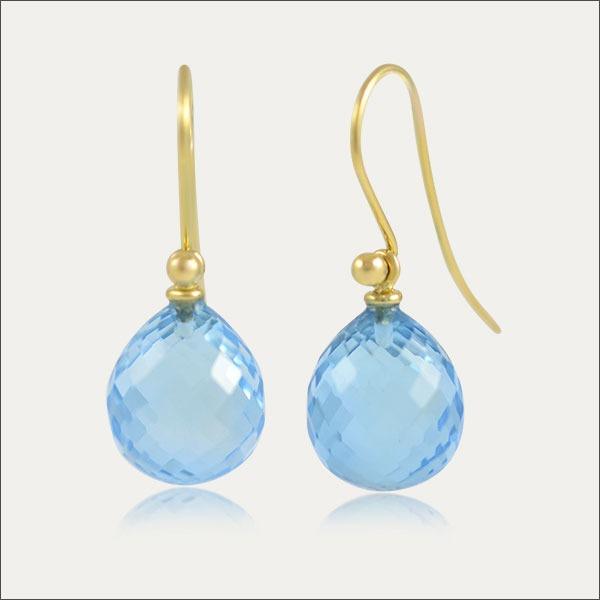 topas ohrhänger blau blue gold schmuck handmade handarbeit earrings goldschmied freiburg