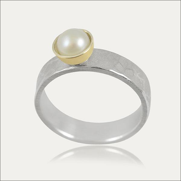 silber silver ring perle pearl pearls gold schmuck handmade handarbeit goldschmied freiburg