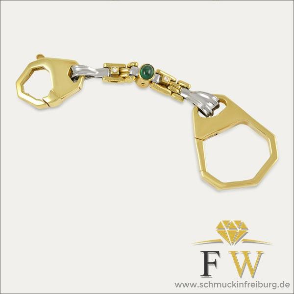schlüsselanhänger anhänger pendant gold silber silver smaragd emerald brillant grün green schmuck handmade handarbeit goldschmied freiburg