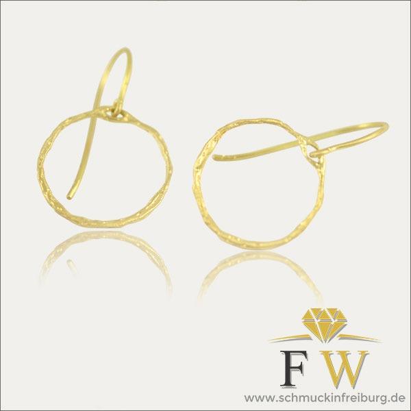 gold ohrhänger earrings puristisch schmuck handmade handarbeit goldschmied freiburg