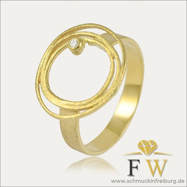 gold ring brillant schmuck handmade handarbeit goldschmied freiburg