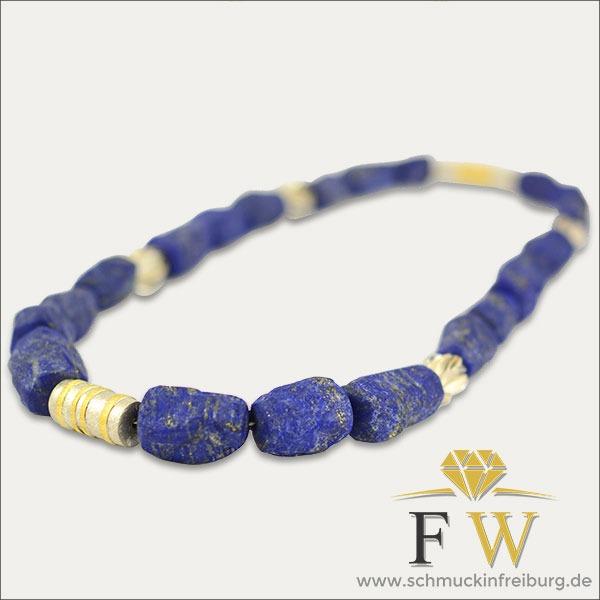 lapislazuli kollier silber silver gold blau blue schmuck handmade handarbeit goldschmied freiburg